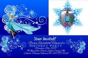 Customizable design templates for frozen birthday invitation birthday invites stopboris Gallery