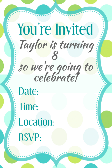 Poster Flyer Invitation Announcement Template