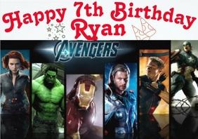 birthday invite avengers