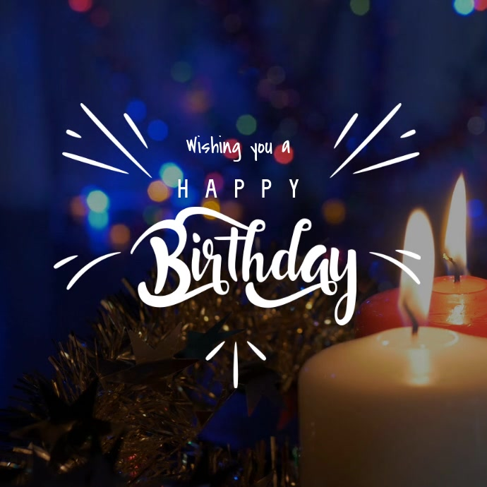 Birthday invite candles