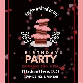 Birthday invite hearts video