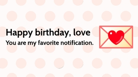 Birthday Love Poster