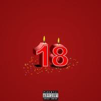 Birthday Mix - 18 Album Cover template