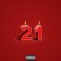 Birthday Mix - 21 Album Cover template