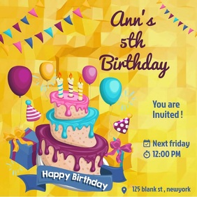 birthday online card invitation