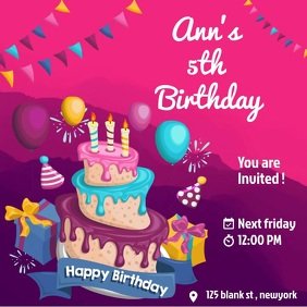 Birthday online invitation