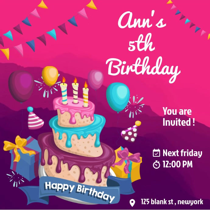 Birthday Online Invitation
