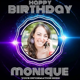 birthday online TEMPLATE DESIGN DIGITAL VIDEO