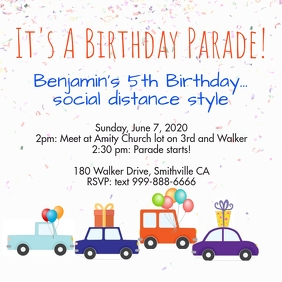 Birthday Parade Message Instagram template