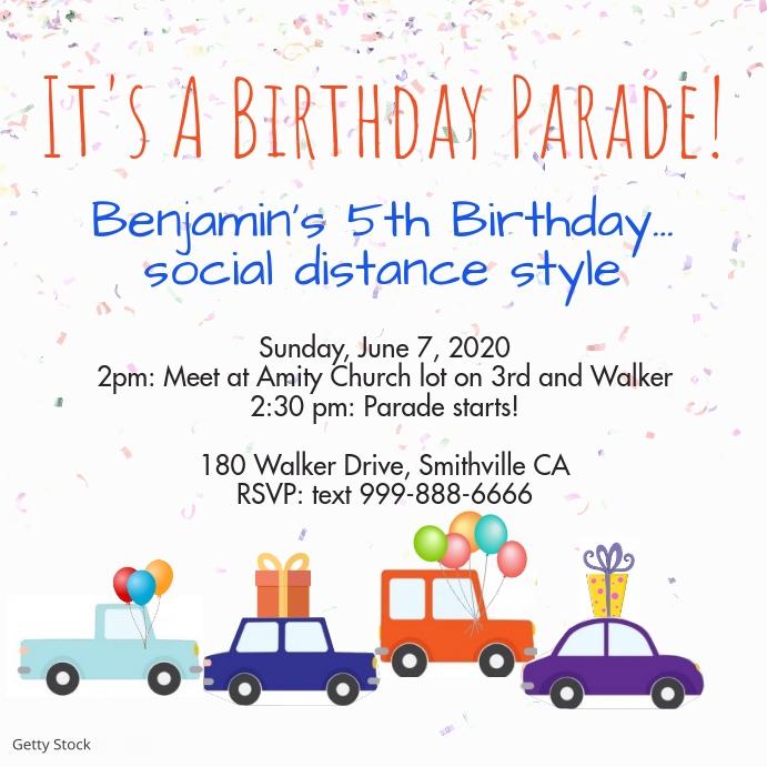 Birthday Parade Instagram Post template
