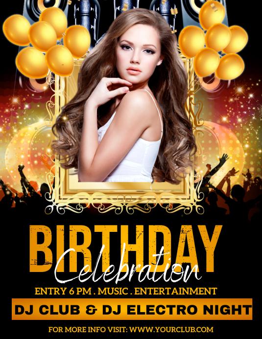 birthday party, birthday, happy birthday Folder (US Letter) template