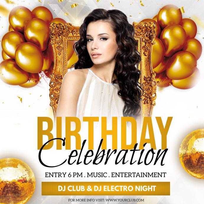 birthday party, birthday, happy birthday Instagram-bericht template