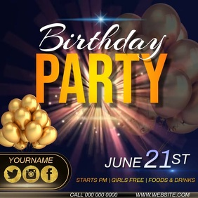 BIRTHDAY PARTY AD INSTAGRAM TEMPLATE