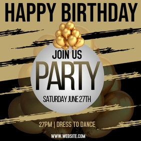 BIRTHDAY PARTY AD TEMPLATE