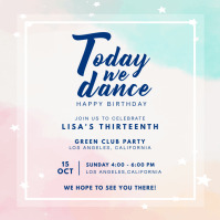 Birthday Party and Dance Invite