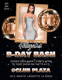 BIRTHDAY PARTY B-DAY BASH CLUB FLYER
