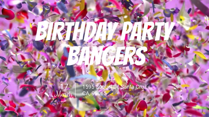 Birthday Party Bangers Flyer
