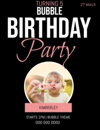 BIRTHDAY PARTY BUBBLE INVITATION BUBBLES