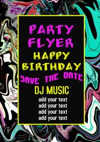 Birthday Party Celebration flyer poster