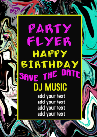 Birthday Party Celebration flyer poster