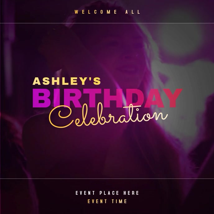 Birthday party Celebration Video Albumhoes template