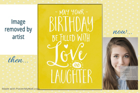 Birthday Party Decor Gift Poster Flyer Announcement