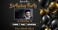 Birthday party Facebook Gedeelde Prent template