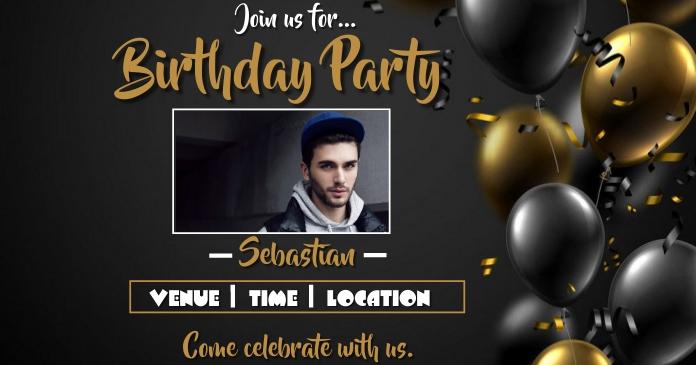 Birthday party Ibinahaging Larawan sa Facebook template