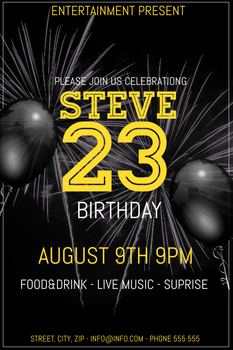 Birthday party event flyer template