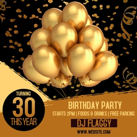 BIRTHDAY PARTY EVENT TEMPLATE