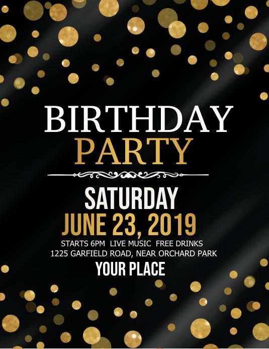 birthday party flyer, birthday