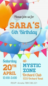 birthday party flyer, birthday video