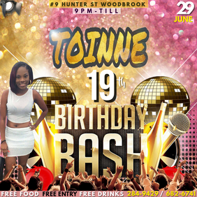 Birthday Party Flyer By R.KINGTT