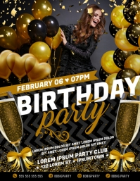 BIRTHDAY PARTY FLYER Pamflet (VSA Brief) template