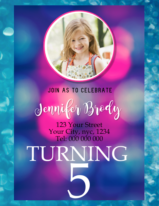BIRTHDAY PARTY FLYER POSTER TEMPLATE
