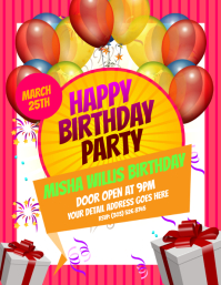 customizable design templates for kids birthday party postermywall