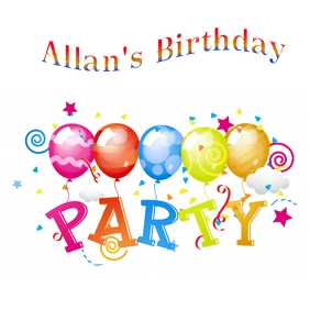Birthday Party Instagram Template