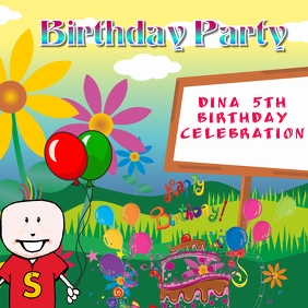 Birthday Party Instagram Template