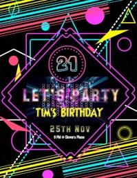 Birthday Party invitation card flyer