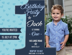Birthday Party Invitation Design Template Flyer (US-Letter)