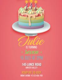 Birthday Party Invitation Design Template
