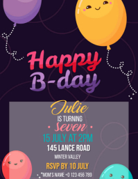 Birthday Party Invitation Design Template