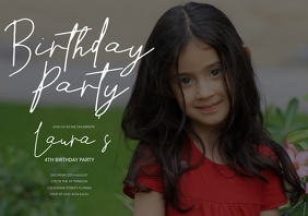 Birthday Party Invitation A5 template