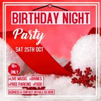 Birthday party invitation Instagram Plasing template