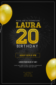 Customize 2560 birthday poster templates postermywall birthday party invitation flyer template maxwellsz