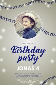 Birthday party invitation for boys