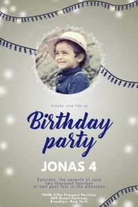 Birthday party invitation for boys
