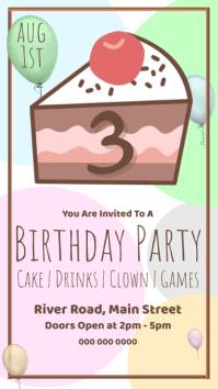 Birthday Party Invitation on Whatsapp