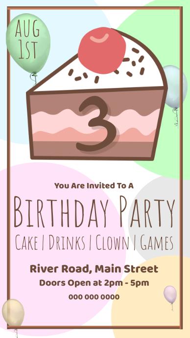 Birthday Party Invitation On Whatsapp