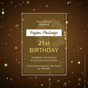Birthday Party invitation template advertising video